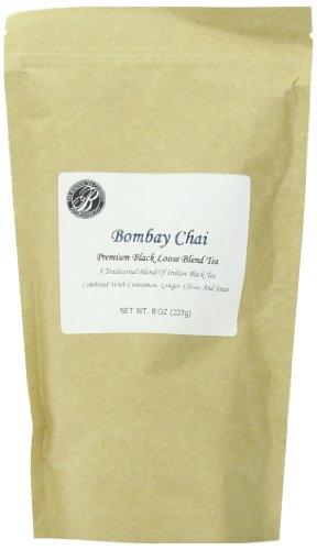 Boston Tea Finest Grade Loose Bombay Chai Black Tea, Bulk, Resealable Pouch, 8 Oz