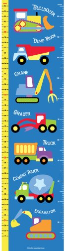 Olive Kids Under Construction Wall Decal Growth Chart front-945888