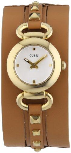 Guess PUNKY W0160L4 - Reloj analógico de cuarzo para mujer, correa de cuero color marrón