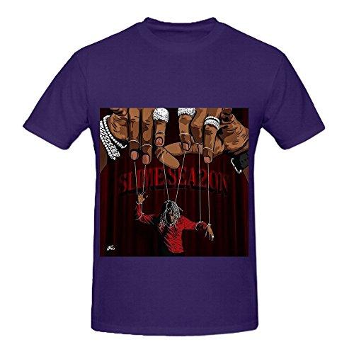 Young Thug Slime Season 2 Men O Neck Funny Shirts Purple (Space Dandy Season 2 compare prices)