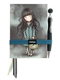 Santoro Gorjuss Premium Journal Set with Bookmark and Pen, White Rabbit (GJ19606)