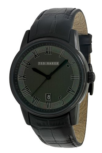 Ted Baker Mens Watch TE1031 with Black Dial and Black Leather Strap