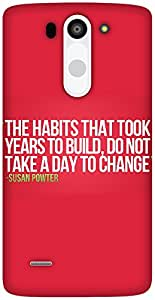The Racoon Grip quotes hard plastic printed back case / cover for LG G3 Beat