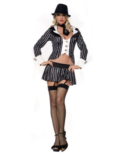 Legs Avenue Womens Gangster 3 Pc Costume