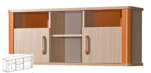 Hängeschrank Hängeregal Kinderzimmer eiche milchig orange günstig online kaufen