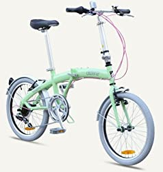 "MIAMI Citizen Bike 20"" 6-speed Folding Bike with Steel Frame (Sour Apple) by Citizen Bike"