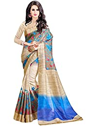 B4Best Creation Multi Bhagalpuri Silk Printed Designer Fancy Saree For Women