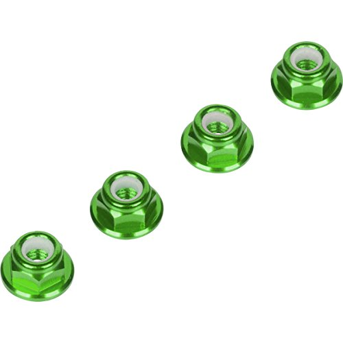 Luxury RC 4mm Green Serrated Wheel Lock Nuts (Set of 4) for Traxxas Axial Racing HPI Racing TLR and ECX Vehicles (Slash Proline Steering compare prices)