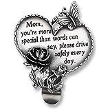 Cathedral Art KVC321 Heart Visor Clip, Mom, 2-3/4-Inch