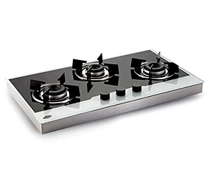 Glen GL-1073 IN BW 3 Burner Glass Gas Cooktop