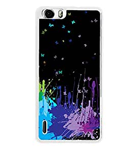 Colours 2D Hard Polycarbonate Designer Back Case Cover for Huawei Honor 6