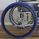 車いす用タイヤカバー ホイルソックス (大 (23~24インチ用), 青)