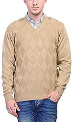 Priknit Men's Blended Sweater (SH-800-40B BEIGE, Beige, 40)