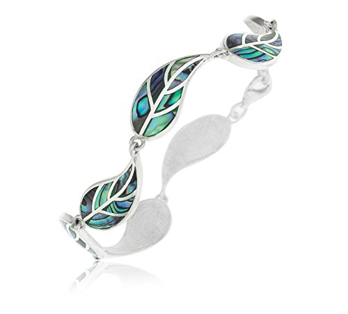 Ornami Ladies' Sterling Silver Abalone Leaf 20