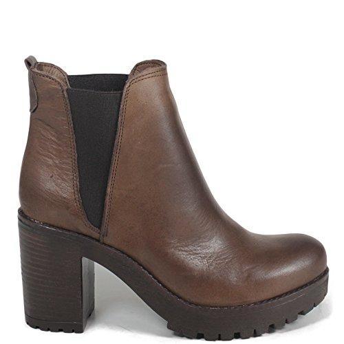Tronchetti Stivaletti Chelsea Ankle Boots Donna 0187 Personal Shoepper Testa di Moro in Vera Pelle Made in Italy