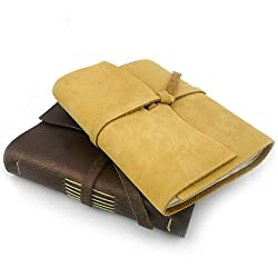 The Good Book Handmade Leather Journal, Made in the USA, Dark Brown