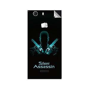 ezyPRNT Skin Sticker for Micromax Canvas Nitro 2 Silent Assassin