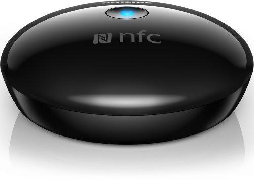 Philips AEA2500 Adaptateur Hi-Fi Bluetooth et NFC universel avec prise RCA et audio, facile à utiliser, désign compact, Noir