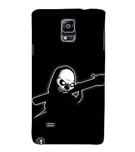 EPICCASE Skeleton in Black Mobile Back Case Cover For Samsung Galaxy Note 4 EDGE (Designer Case)