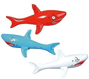 Rhode Island Novelties Mens Inflatable Shark Red/white/blue Medium