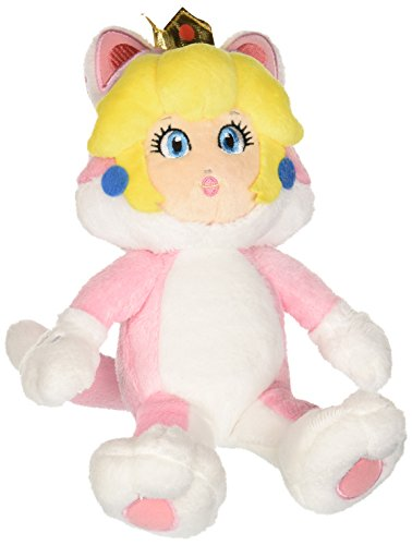 Little Buddy Super Mario Neko Cat Peach Plush, 10""