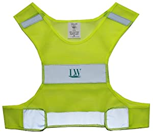 LW Reflective Safety Vest for Running Cycling Walking Yellow Lightweight (Small/Medium)