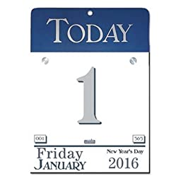 Today Wall Calendar, 6 1/2 x 9, 2016, Sold as 1 Each