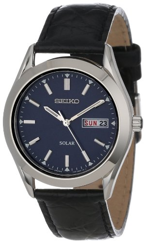 Seiko Men's SNE049 Stainless Steel Solar Watch