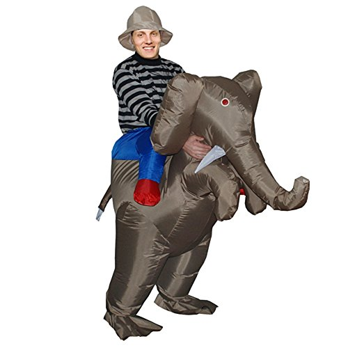 Inflatable Elephant Fancy Dress Costume Fat Suit Hen Stag Night Outfit Props