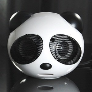 Cosmos ® Panda 2 Piece Portable Mini Usb 2.0 Channel Multimedia Speakers For Computer/Pc/Laptop/Mp3/Mp4/Dvd/Hi-Fi/ Apple Macbook Pro + Cosmos Cable Tie