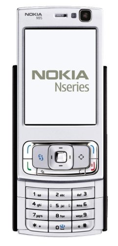 Nokia N95-3 Unlocked Cell Phone with 5 MP Camera, 3G, Wi-Fi, GPS, MP3/Video Player, MicroSD Slot--U.S. Version with Warranty (Silver/Black)