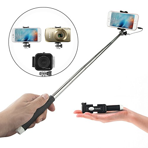 amnerd ufashion3c selfie stick wired battery free no bluetooth pen size mini foldable for. Black Bedroom Furniture Sets. Home Design Ideas
