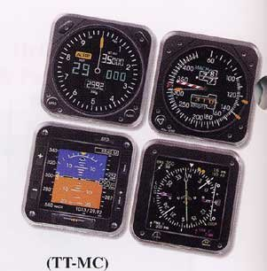 Modern Aircraft Instrument Coasters - Set of 4