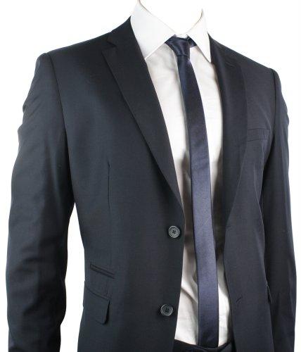 Mens Suit Navy Blue 2 Button Regular Fit Office Party Wedding Suit UK Stock