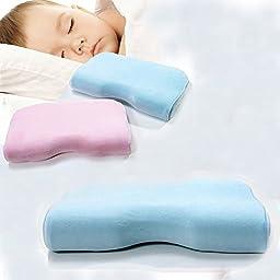 TTBOO Baby Pillow Memory Foam Head Rest Foam Prevent Flat,Blue (0- 5 Years)