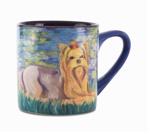 Paw Palettes Yorkshire Terrier Bonet Ceramic Mug, 16-Ounce front-421962