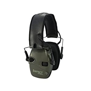 Howard Leight Impact Sport OD Electric Earmuff, Green