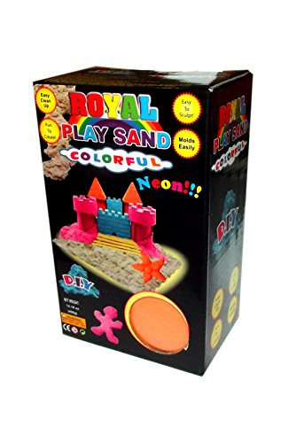 Royal Deluxe Neon Royal Play Sand Colorful 400g Box-Orange