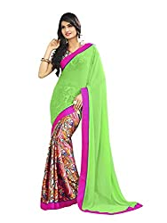 Morpankh enterprise Green Georgette Saree ( Ridhhi 102 perrot )