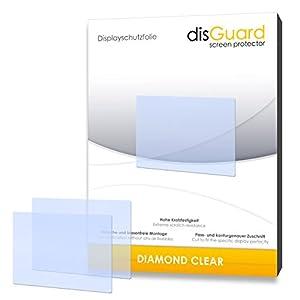 2 x disGuard Diamond Clear Film protecteur d'écran pour Pentax K-50 / K50 - Qualité supérieure (limpide, revêtement dur adhésif, montage sans bulles)
