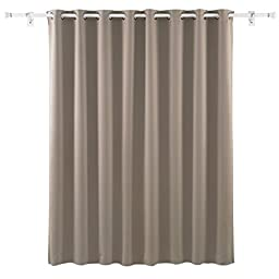 Deconovo Wide Width Grommet Thermal Insulated Khaki Blackout Window Curtain For Bedroom 100\