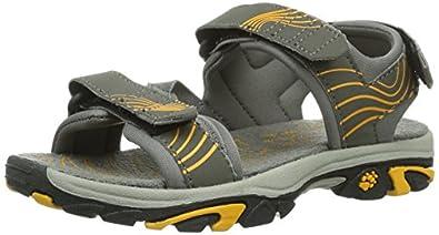 Jack Wolfskin  BOYS WATERRAT, sandales garçon - Multicolore - Mehrfarbig (burly yellow), 26 EU
