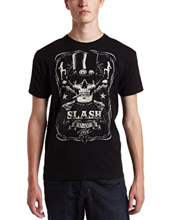 Liquid Blue Men's Slash Bottle of Slash Tee, Black, Medium