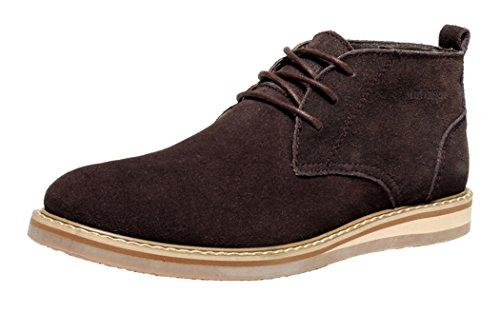 Mulinsen Men'S Against Velvet Cowhide Martin Tights Highs Shoes(9.5D(M)Us,Brown)