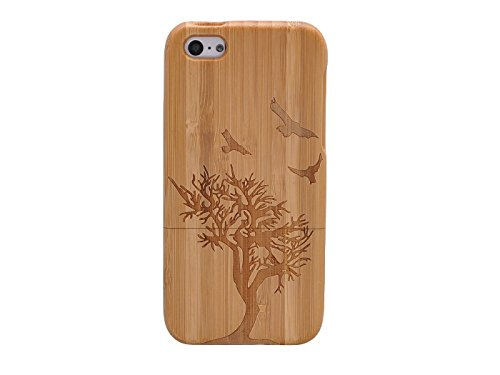 Queens® Unique Real Special Unique Real Handmade Natural Wood Wooden Hard Bamboo Shockproof Case For Iphone 6 (4.7) (A-15)