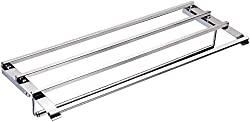 AEREUS Stainless Steel Towel Rack (70 cm x 23 cm x 90 cm, Silver)