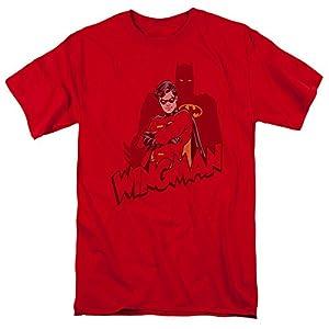 Batman Wingman Mens Short Sleeve Shirt RED 5X at Gotham City Store