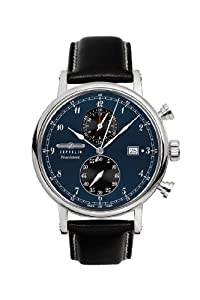 Zeppelin Watches Men's Quartz Watch 7578-3 with Leather Strap