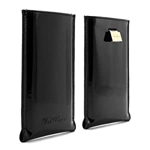 Ted Baker Patent Leather Style Pouch Case for Apple iPhone 5/5S/5C - Black