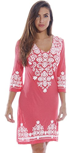 1883-Coral-M Just Love Swimsuit Cover Up / Summer Dresses / Resort Wear